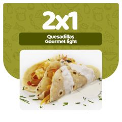 2x1 en Quesadilla de vegetales con queso · Gourmet Light