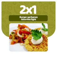 2x1 en Hamburguesa de garbanzo con vegetales asados · Gourmet Light