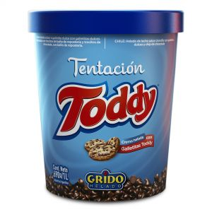 Helado Tentación Grido Galleta Toddy x 690Gr